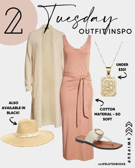 Tuesday Outfit Inspiration - Nordstrom Anniversary Sale Still in Stock - Soft Cotton Dress with Beachy Accessories, Gold Jewelry under $30  #LTKstyletip #LTKunder100 #LTKtravel