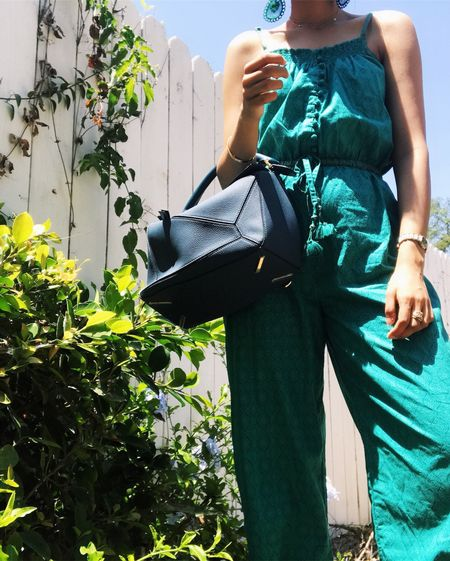 Little known fact: Teal is actually my all time favorite color ☺️💙✨ ANDD I think I'd rate this outfit a 11/10 bc so so comfortable. Jumpsuits are the best👌🏻😅 #comfortstyle #loewepuzzlebag #loewepuzzle #teal #favoritecolor #favcolor #blue #anokhi #jumpsuits #jumpsuitlove #bluejumpsuit #luxuryfashion #fblogger #styleblogger #fashionblogger #discoverunder10k #loewe #designerhandbag #tealblue #liketkit @liketoknow.it http://liketk.it/2weVL