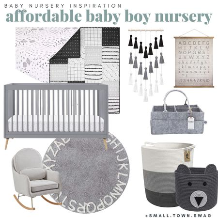 Baby boy / gender neutral nursery inspo! . . . . . . . . Baby nursery // nursery inspo // neutrals// neutral nursery // gender neutral nursery // baby room // baby boy nursery // baby boy room // gray and white // grays and whites // target style // target kids // target baby // Amazon baby // Amazon kids // Amazon nursery // alphabet rug // alphabet nursery // crib // gray crib // modern nursery // crib bedding // crib sheets // baskets // rocking chair // delta children // nursery decor // gray and white nursery // baby boy // baby girl // baby girl nursery // girl room // boy room // baby girl room // modern crib // modern baby room  #LTKhome #LTKkids #LTKbaby