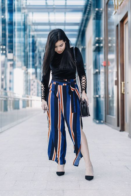 Ask yourself if what you're doing today is getting you closer to where you want to be tomorrow. 💬 This look is live on the blog <link in bio> I've added so many different style of stripe pants and velvet tops via @liketoknow.it to get all the details sign up or type this link in your browser ➡️ http://liketk.it/2pSL4 #liketkit