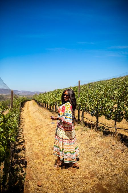 What to wear while wine tasting! Wearing a size M in the dress.   #LTKtravel