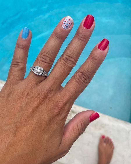 Red, white and blue nails polishes linked http://liketk.it/3j0FQ @liketoknow.it #liketkit #LTKbeauty #LTKstyletip #LTKunder50