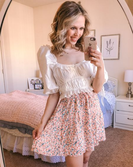 Some frilly finds from amazon to kick off the week 🌸 I've never really gotten into amazon fashion finds, but I got curious a few days ago- so here we are! I love this combo, and this top is a total For Love & Lemons one 🌿 Fun game- comment & tell me the last thing you bought on amazon! I'll go first, vaccine protecter sleeves 😂 . . . You can shop this look by going to the link in my bio or by following me in the @liketoknow.it app 🌸🌿✨ http://liketk.it/3eppD #liketkit #amazonfinds #amazonfashion #LTKunder50 #LTKsalealert #LTKstyletip
