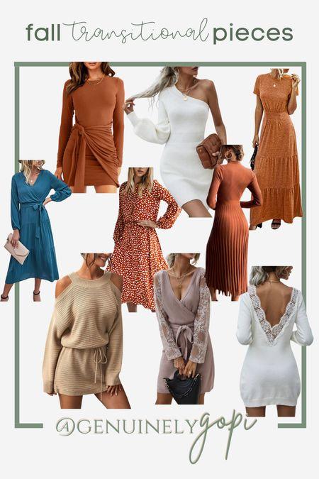 some inspo for fall transitional dresses!   #amazonfinds #amazondress #amazonfashion #sheinfashion #shein #affordablefashion   #LTKbrasil #LTKSeasonal #LTKstyletip