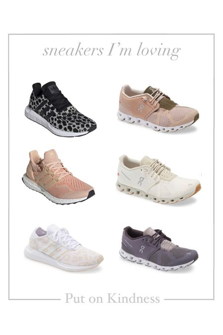 Adidas ultra boost. Neutral leopard sneakers. Women's running shoes. On cloud tennis shoes.   #LTKshoecrush #LTKfit #LTKunder100