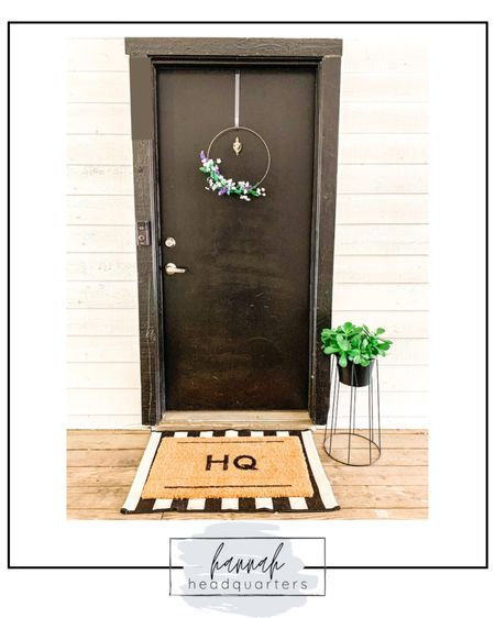 Summer is here and what an exciting time to decorate your front porch for the season! This modern metal planter is super cute and the double door mats are such a statement! http://liketk.it/3iuE3 #liketkit @liketoknow.it