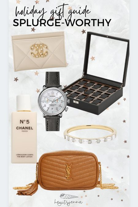 Gifts for husband and Christmas gift ideas for your wife or fiancé! Ysl bag and Chanel gifts Mens watch  #LTKGiftGuide #LTKitbag #LTKHoliday