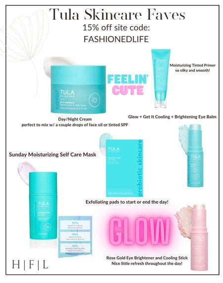 Tula Skincare Favorites! Use discount code: FASHIONEDLIFE for 15% off, Her Fashioned Life   #LTKbeauty #LTKunder100 #LTKstyletip