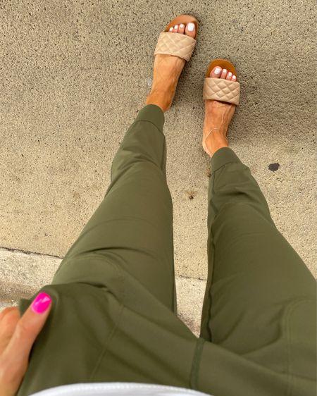 Comfy Amazon joggers in xs sandals 20% off with belbel20 http://liketk.it/3hhqe #liketkit @liketoknow.it #LTKsalealert #LTKunder50 #LTKshoecrush