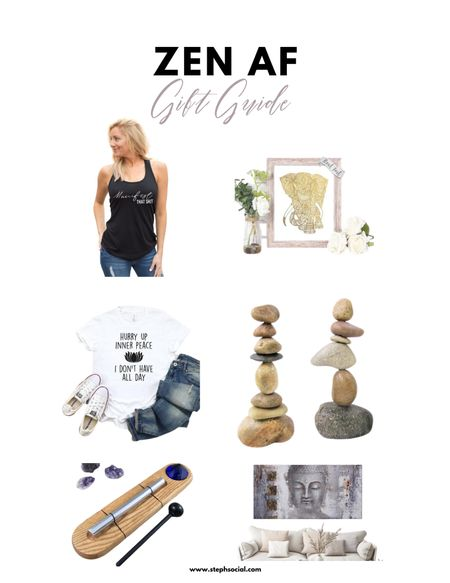 Seriously zen gift guide! Everyone needs a little more calm this year, am I right?! Zen gift basket ideas. Self care gift basket ideas. Yoga gifts #zengifts #mindfulness #selfcare   #LTKunder100 #StayHomeWithLTK #LTKfit