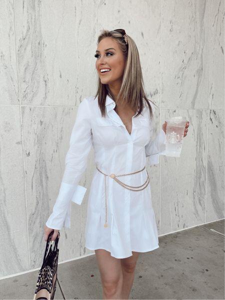 Christian Dior bag, trumpet dress, white dress, gold belt, forever 21, affordable fashion, fall fashion   #LTKshoecrush #LTKsalealert #LTKstyletip