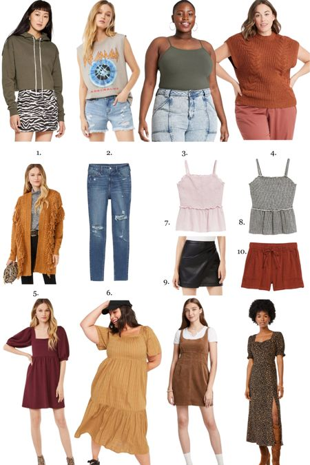 Summer to fall transitional pieces that are in my cart right now! In dallas, the heat stays for awhile… so I'll be living in early fall fashion deep into the fall 🤪 these are Old Navy, Target and Walmart fashion finds #ltkfall #fallfashion   #LTKcurves #LTKSeasonal #LTKunder50