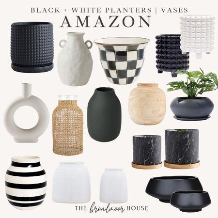 Amazon home, Amazon Finds, AMAZON vases, planters, black-and-white, modern Decor, black-and-white Decor, rattan, BoHo, farmhouse, kitchen Decor, bedroom Decor, Living Room Decor, Nightstand, shelf styling, bookshelf, bookcase, white kitchen, white Decor, black kitchen, linden lamp, Wood decor, neutral Decor  #LTKhome #LTKsalealert #LTKstyletip