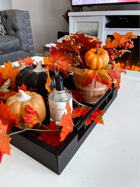Fall living room decor, Amazon decor, pumpkins, Target fall decor, Target finds, Amazon finds, coffee table, living room decor  #LTKSeasonal #LTKhome