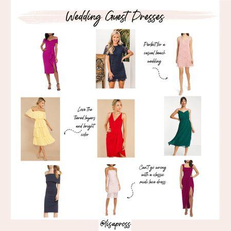 So many gorgeous wedding guest dresses this season. Favorite picks linked.  http://liketk.it/3drqn #liketkit @liketoknow.it             Midi dress, casual wedding outfits, formal wedding guest outfits