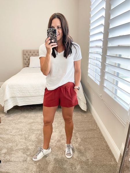 Casual athleisure shorts - high waist,  comfortable and perfect everyday, weekend casual look.  True to size - small    #LTKunder50 #LTKstyletip #LTKfit