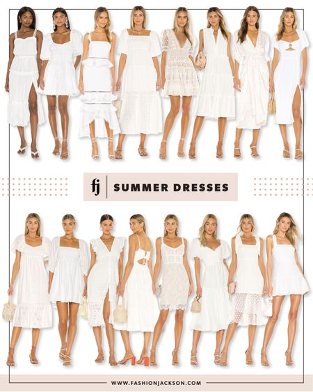 Love all these little white dresses! So good for summer vacation, brides, wedding, honeymoon, or just the perfect summer outfit http://liketk.it/3jYit #liketkit @liketoknow.it #LTKstyletip #LTKwedding #LTKunder100