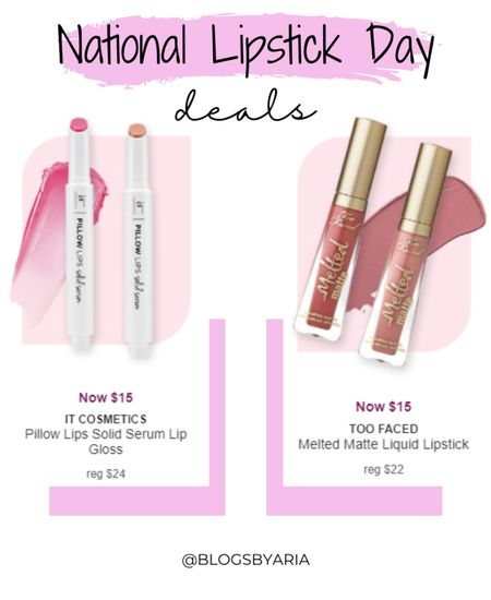 $15 lipglosses I to celebrate national lipstick day   #LTKbeauty #LTKsalealert