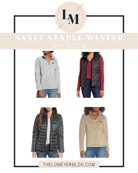 Nordstrom Anniversary Sale! Staple winter top picks! http://liketk.it/2THZU @liketoknow.it #liketkit #LTKsalealert #LTKunder100 NSALE | Patagonia | North Face | jacket | vest | pullover | winter ready