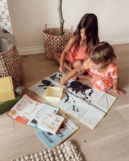 """STEAM activity for kiddos… this activity is done with water, so no mess! And once it sits in the sun the """"paint"""" disappears and you can use it again. @kiwico_inc #kiwico #ad  #LTKkids #LTKfamily"""