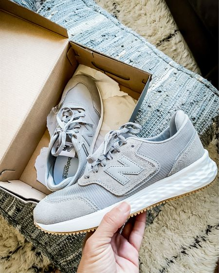 Grabbed a pair of these New Balance kicks and I'm over the moon with how comfortable they are!  True to size and right now 25% off with code KICKITUP http://liketk.it/30bSR @liketoknow.it #liketkit #LTKsalealert #LTKunder50 #LTKshoecrush