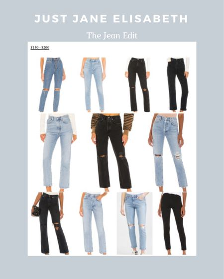The Jean Edit: check out these cute jeans ranging from $150-$200! http://liketk.it/3ahMK @liketoknow.it #liketkit