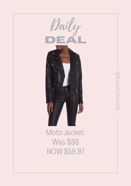 Faux leather jacket. Moto jacket. Fall basics.   #LTKstyletip #LTKsalealert #LTKSeasonal