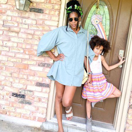 Summer style: Green shirt dress + Sandals + Butterfly headband + Rayban sunnies + Yellow Kate Spade handbag  http://liketk.it/3fERB #liketkit @liketoknow.it