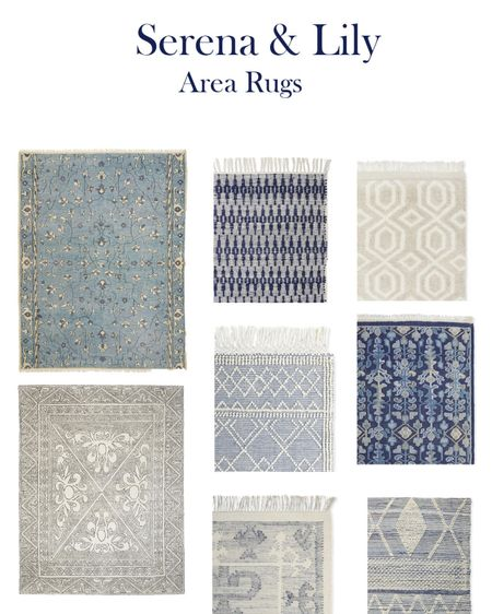 Get all the lux coastal vibes with Serena and Lily Area Rugs