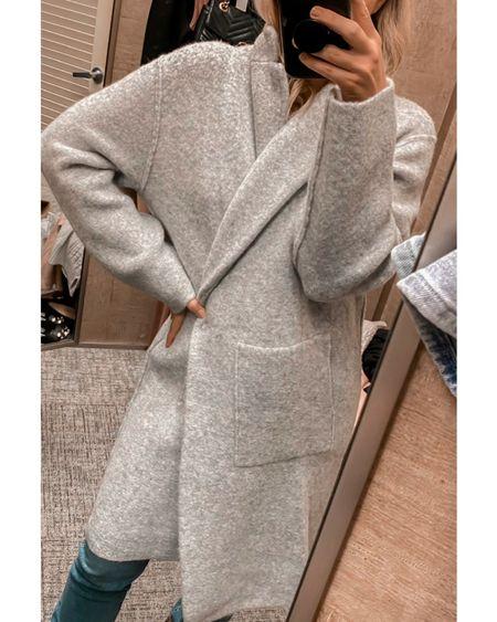 Sweater coat, jeans, fall outfit  #LTKstyletip     http://liketk.it/3o9dQ @liketoknow.it #liketkit