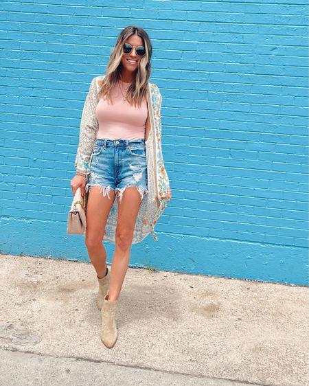 Size xs in this tank  Code JEN15 on these booties and bag Shein Kimono Vacation outfit. Shorts.     http://liketk.it/3hdqG @liketoknow.it #liketkit #LTKshoecrush #LTKtravel #LTKstyletip