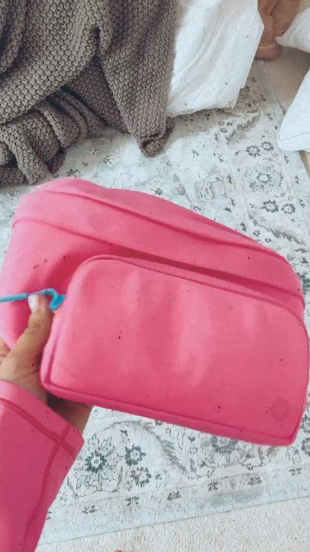 Fanny pack, pink Fanny pack, pink belt bag, cute belt bag, lululemon belt bag   #LTKfit #LTKbacktoschool #LTKunder50