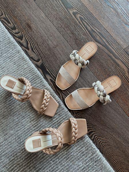 Dolce Vita Paily heels and Persey slide sandal (TTS)   #LTKunder100 #LTKSeasonal #LTKshoecrush