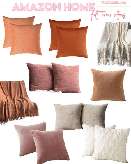 Amazon home decor, Amazon fall, Amazon fall Pillows, throw pillows, fall throw pillows, fall blanket  #LTKhome #LTKunder100 #LTKunder50