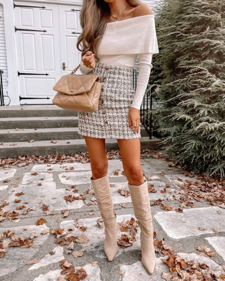 The Mimi Button Front Tweed Skirt Grey  XS, TTS, cmcoving, Caitlin Covington, Pink Lily Collection, fall fashion, use code CAITLIN20 for 20% off!   #LTKsalealert #LTKunder100 #LTKSeasonal