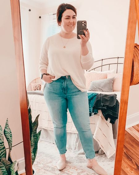 My Abercrombie Curve Love jeans are my favorite!  Next to jog Madewell Roadtripper, these are my most worn jeans.  They are true to size.  I am linking the pairs I have (curve love high waist skinny Jean) and some similar ones in stock.  #LTKfit #LTKSale