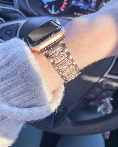 Apple Watch SE / rose gold watch band 38-40mm / bling / Amazon http://liketk.it/3eUT3 #liketkit @liketoknow.it #LTKsalealert #LTKunder50 #LTKworkwear