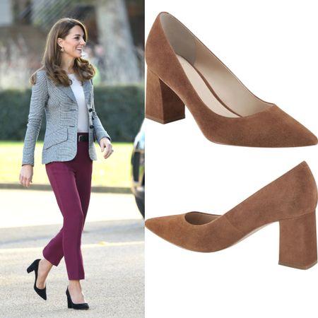 Kate wearing Gianvito Rossi 85 Piper pumps similar look for less at Nordstrom #shoes #blockheel #platform  #LTKshoecrush