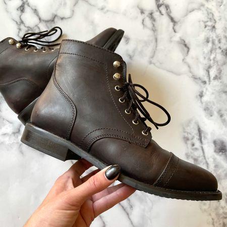Lace up boots for fall, these come in a variety of colors #brownboots #hikingboots #boots #fallboots #blackboots   #LTKSeasonal #LTKshoecrush #LTKstyletip