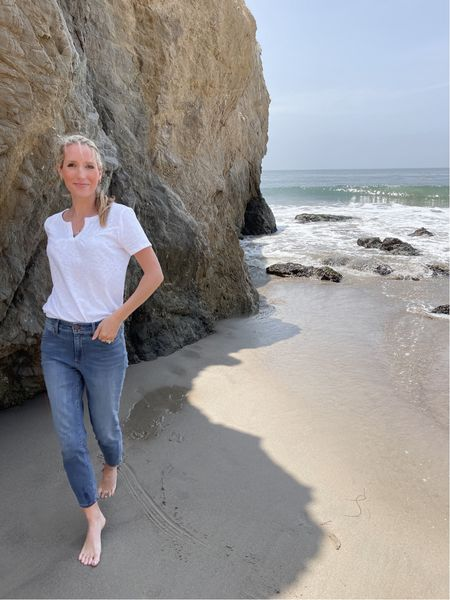 These skinny jeans from @Talbots are so incredibly comfortable!! The high rise fit is very flattering and I always love an ankle crop.(I am 5'6 for reference!)I have been loving them for Summer travel, around the house and out & about!#talbotspartner #mytalbots   #LTKunder50 #LTKstyletip #LTKunder100
