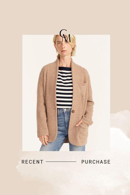 J.Crew cocoon sweater blazer