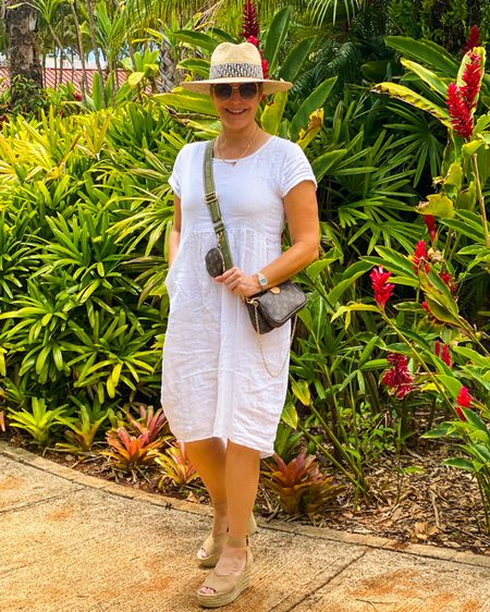 Easy #linendress and #espadrilles - perfect for #summervacationstyle 👉 http://liketk.it/3jZ3N or Shop your screenshot of this pic with the LIKEtoKNOW.it shopping app @liketoknow.it #liketkit #LTKtravel #LTKunder50 #LTKcurves #linendress #amazonfinds #summerhats #beachvacationstyle #beachvacation #hawaiivacation