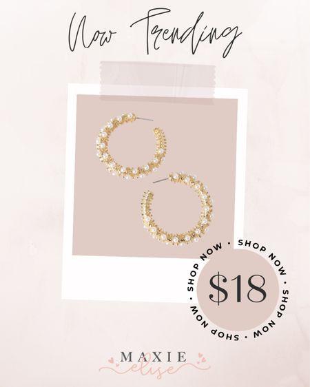 Now Trending - Pearl Studded Earrings ✨  #jewelry #pearlearrings #lulus #lulusjewelry  #LTKSeasonal #LTKstyletip #LTKunder50