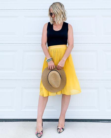 I love a colorful pleated skirt!    #LTKworkwear #LTKstyletip #LTKunder50