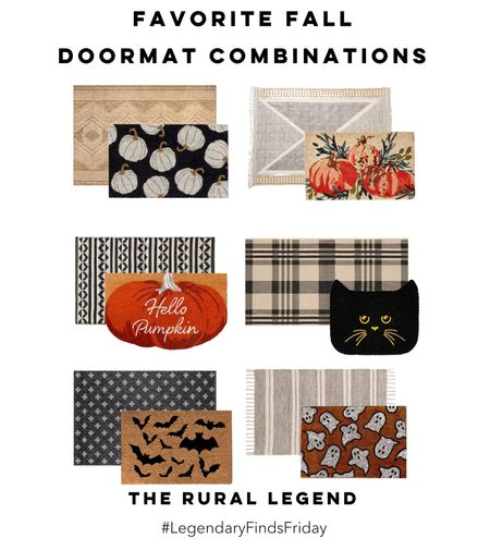I can't wait to decorate my front porch! I'm trying to hold out until the porch stenciling is done, but it's really hard to wait with so many amazing options! Which combo would you choose?  Door mat, fall rug, Halloween decor, outdoor decor  #LTKSeasonal #LTKhome #LTKHoliday