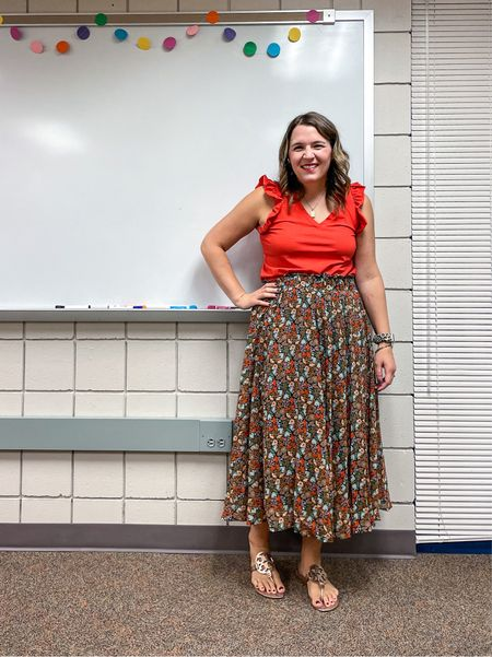 I snagged this beautiful floral midi skirt and there are so many things it goes with in my closet!      #LTKbacktoschool #LTKstyletip #LTKunder50