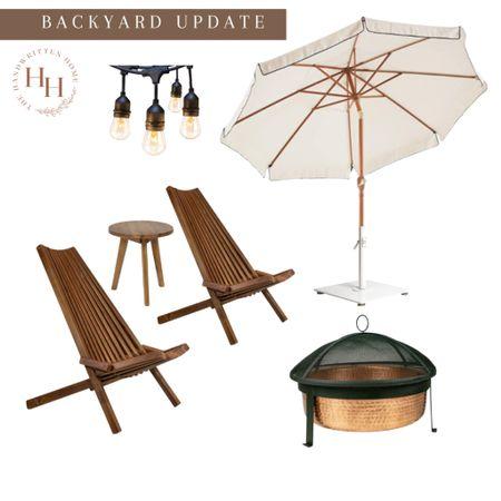 Backyard Updates by Amazon  Amazon finds   Amazon decor   backyard decor   fire pit   patio umbrella   patio chairs   patio string lights   fall backyard   #LTKsalealert #LTKstyletip #LTKhome