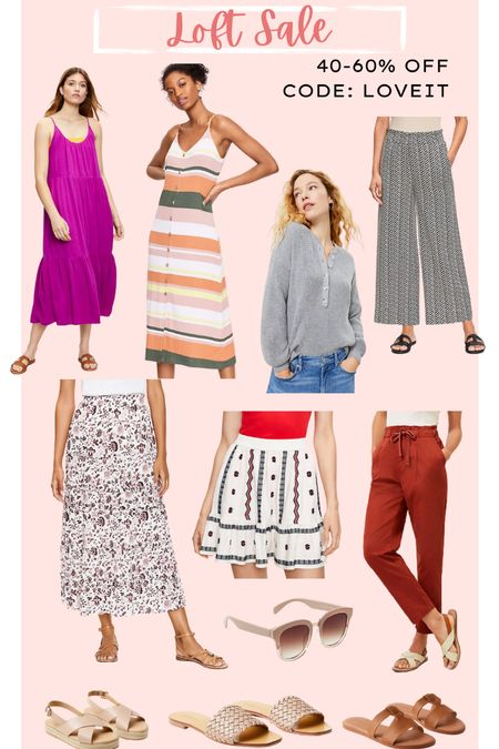 Loft sale // workwear // dresses and skirts // summer outfits   #LTKsalealert #LTKunder50 #LTKworkwear