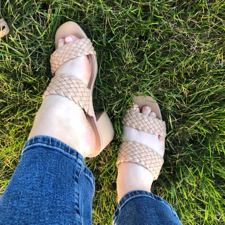 Very excited about these. Online I thought they might look a little cheap but they are so much better in person. #houseofcolour #neutral #weddingguest  #LTKshoecrush #LTKwedding #LTKunder50