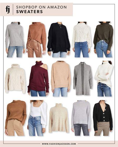 Amazon finds, amazon fashion, Shopbop, sweaters, white sweater, black sweater, camel sweater, grey sweater, fashion Jackson http://liketk.it/34RyJ @liketoknow.it #liketkit #LTKunder50 #LTKunder100 #LTKsalealert
